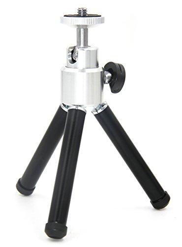 Lightweight Mini Tripod Small Camera Tripod Mount Cell Phone Holder Stand (Black)