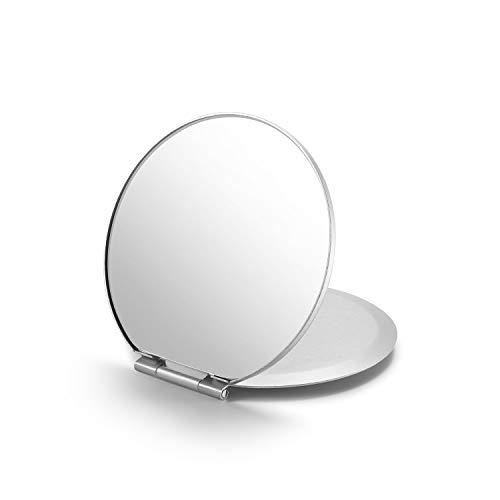 "Portable Folding Mirror,Ultra-Slim Durable Makeup Mirror, Small Tabletop Mirror for Travel,Aluminum Shell, Mini Size,2.8"""