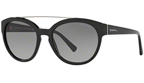 Giorgio Armani AR8086 - 5017/11 Black AR8086 Cats Eyes Sunglasses 55mm