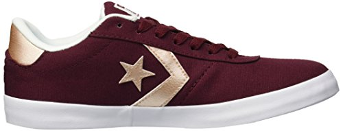 Converse dark peach Multicolore Star Basses Sneakers Burgundy 629 white Ox Femme Point Lifestyle g8rBg