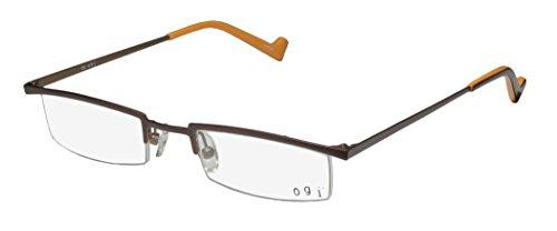 Ogi 2218 Mens/Womens Ophthalmic Classic Shape Designer Half-rim Eyeglasses/Spectacles (47-21-140, - Shape Ophthalmics