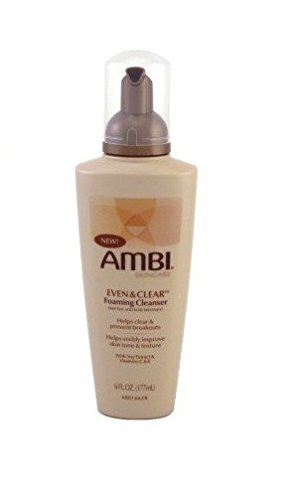 Ambi Even & Clear Foaming Cleanser 6oz Pump (2 Pack)