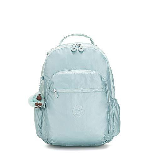 Kipling Seoul Go Large Metallic 15' Laptop Backpack One Size Arctic Mtlc