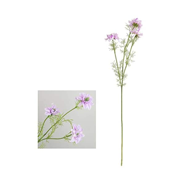 Artificial & Dried Flowers – 3 Head Artificial Cosmos Flowers Party Wedding Decorations Real Touch Silk Fake El Decor Floral – Artificial Flowers Dried