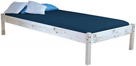 90 x 200 cm cama con somier de lamas de madera maciza: Amazon ...