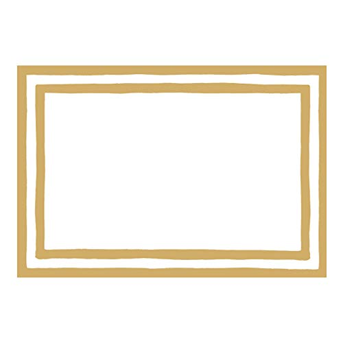 - Caspari Border Stripe Place Cards in Gold Foil, 16 Included