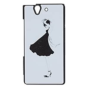 Sexy Girl Pattern Shimmering Powder Hard Case for SONY L36H(Xperia Z)