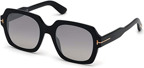Tom Ford FT0660 01C Shiny Black Autumn Square Sunglasses Lens Category 2 Lens ()