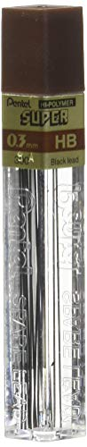 Pentel Super Hi-Polymer Lead 0.3mm HB (300-HB)