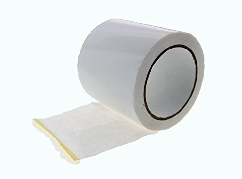 4'' in x 60 yd White House Wrap Tape Sheathing Building Wrapping Housewrap Sheath Tape Insulation Seaming Plastic Sheets FOR Sealing TYVEK in Construction or Moisture Dust barrier Asbestos Abatement by TapeSmith