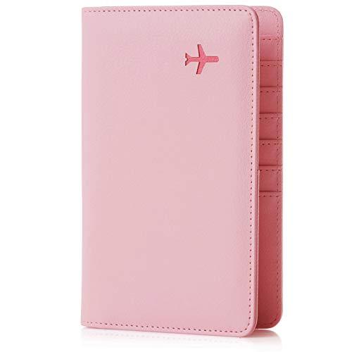 - Travel Design all in one Travel Wallet - 2 Passport Holder Organizer - Gift box (Flamingo)