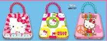 Hello Kitty Classic Purse Tin w/ Beaded Handle - Designs Vary -