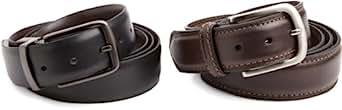 Dockers Men's Gift Set Of 2 Belts, Black/Brown, XX-Large