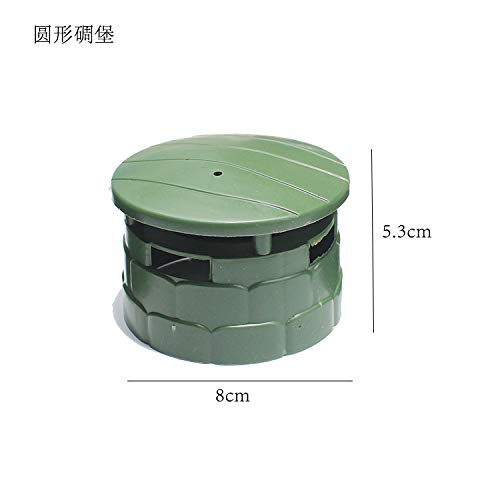 Ocamo 10 Pcs Children DIY Model Toys Sand Table Military Model Accessories Puzzle Learning Toy Round Bunker -
