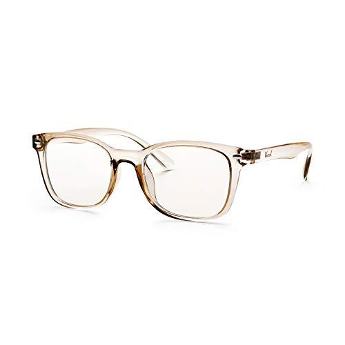Anti Blue Ray Glasses with Plastic Frame Blue Light Blocking Eyeglasses with UV400 Transparent Lens Computer Gaming Glasses for Women Men ()