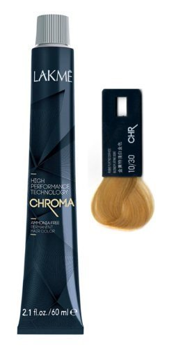 Lakme Chroma Ammonia Free Permanent Hair Color 2.1 Oz (10/30 Gold Platinum Blonde)