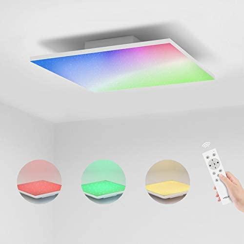 30 x 30cm LED Panel Deckenleuchte dimmbar I 18 Watt I 1440 Lumen I Ultra Slim I RGB+CCT Farbsteuerung I Inkl Trafo und Fernbedienung I 50.000 Betriebsstunden Energieklasse A++