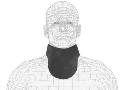 No Binding Unattached Thyroid Collar, Regular Lead, 0.5mm Pb Lead Equivalency, Black