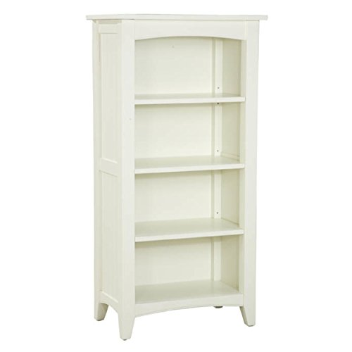 Door 4 Shelf Barrister Bookcase (Alaterre ASCA08IV Shaker Cottage Four Shelf Tall Bookcase, Ivory)
