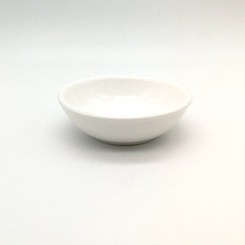Ceramic Side Sauce Dish 2.9-Inch 1.8-Ounce Dip Tomato Sauce Salt Vinegar Sugar Flavor Spices Dip Bowl Party Ware Set of (Ceramic Vinegar)