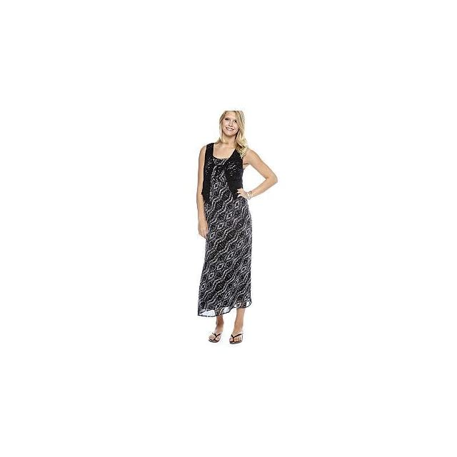 ND New Directions Womens Maxi Dress with Vest