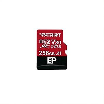 Patriot Memory Tarjeta de Memoria MicroSDXC EP Series A1 V30 256 GB hasta 90MB/Sec PEF256GEP31MCX
