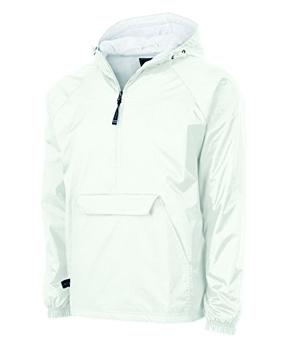 Charles River Apparel Women's Front Pocket Classic Pullover - White, (Womens Anorak)