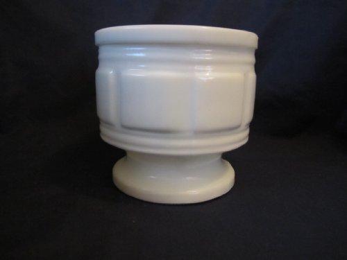 (Vintage Randall Milk Glass Jardiniere Vase Planter 4 3/8