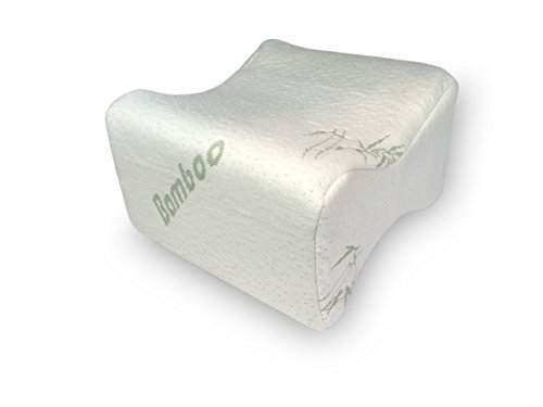Fabric Covered Foam (Bamboo Covered Memory Foam Knee Positioning Pillow with extra Aloe Vera)