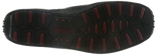 Rieker Garrit 08960-00 - Mocasines de cuero para hombre Negro