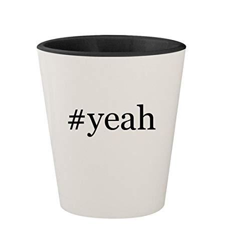 #yeah - Ceramic Hashtag White Outer & Black Inner 1.5oz Shot -