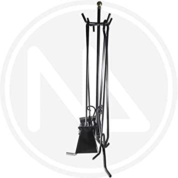 cuadrado Fuelle lumbre 50 x 20 x 20 cm /útiles color negro /& Flores Y Cortes Imex El Zorro 10004 Juego para chimenea
