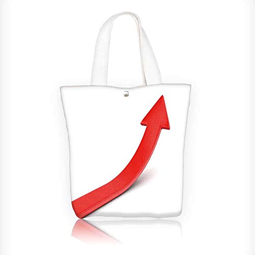 canvas tote bag d illusration arrow up with clipp path reusable canvas bag bulk for grocery,shopping W11xH11xD3 INCH