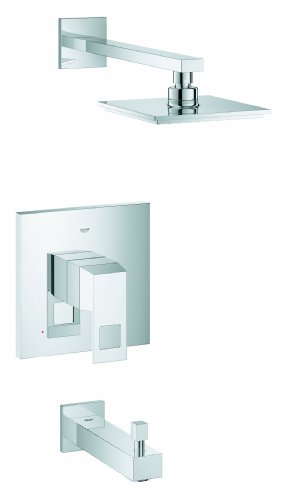 Eurocube 1-Spray Showerhead and Tub Spout Combination