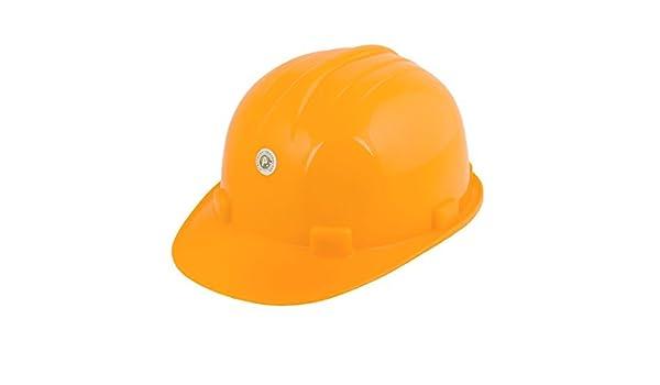 De plástico de color amarillo cabeza ajustable Circunferencia Seguridad duro Casco de la construcción - - Amazon.com