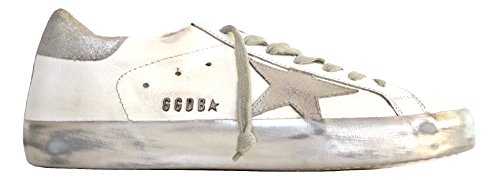 E36 Goose GOOSE EU Scarpe Golden G30MS590 Superstar Bianco Uomo Vintage GOLDE 40 Sneakers Argento qaCAU