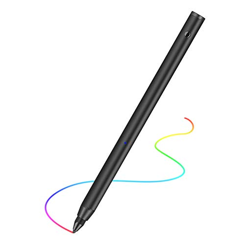 Fine Point Active Stylus Pen, Rechargeable Touch Screen Digital Drawing & Writing Pen with Adjustable Tip, Work for All ipad, iPhone, Samsung and Other Android Tablet Phones