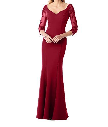 Festlichkleider Abendkleider Figurbetont Burgundy Brautmutterkleider Damen Etuikleider Elegant Kleider Charmant Standsamt Pqw0txE