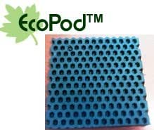 "4 Pack of Anti Vibration Pads 5 1/2"" X 5 1/2"" X 3/8"" Solid Crumb Rubber Vibration Isolation Pads"