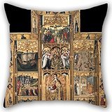 [Alphadecor Oil Painting Joan Reixach - Altarpiece Of Saint Ursula And The Eleven Thousand Virgins Pillowcase 16 X 16 Inches / 40 By 40 Cm For Drawing Room,club,family,him,dining Room,home With] (The Devils Rejects Baby Costume)