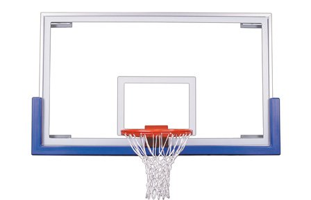 最初チームTriumphアップグレードパッケージsteel-glass Gymnasium backboard44 ;リム&パッドアップグレードpackage-ブラック B01HC0BIV0