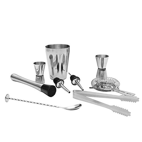 Majinz Store Cocktail Whisks 5/9pcs Cocktail Shaker Stainless Steel Cocktail Whisk Bar Tools Wine Shakers Bar TET Tools 5Pieces /Set Cocktail Shaker Bar Tool