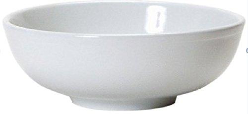 Soup Bowls - 2 White Porcelain Ceramic Vietnamese Pho Japanese Ramen Noodles Menudo Pasta Popcorn Fruit Dessert Serving Dishes (8.5 inches) by CAC (Bowl Fruit Large Buy)