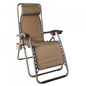 Mills Fleet Farm Anti Gravity Chair Removable Headrest  Tan