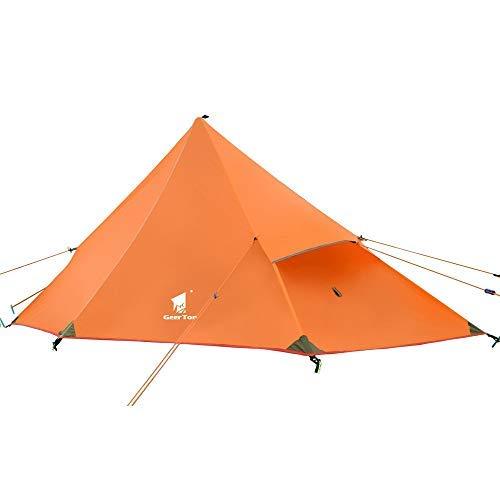 Details zu GEERTOP Kuppelzelt Rucksack Zelt Minipack 20D (Fly + Inner tent|Orange)