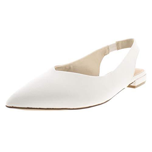 (STEVEN by Steve Madden Women's Lourdes Mary Jane Flat, White Leather, 8.5 M US)