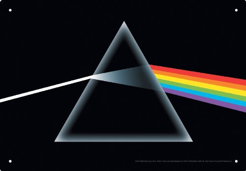 (Aquarius Pink Floyd Dark Side of the Moon Tin Sign)