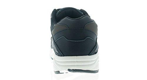 Focus Hombre/Hombre Piel Artificial Zapatillas - Azul Marino - GB Sizes 7-13