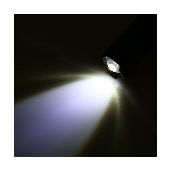 Alomejor Linterna para Casco, Q5 Zoom Linterna y Casco Linterna Juego de Clips con batería cargable para Seguridad y Aire Libre 10