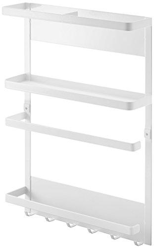 YAMAZAKI home 2560 Plate Magnetic Kitchen Organization Rack,White